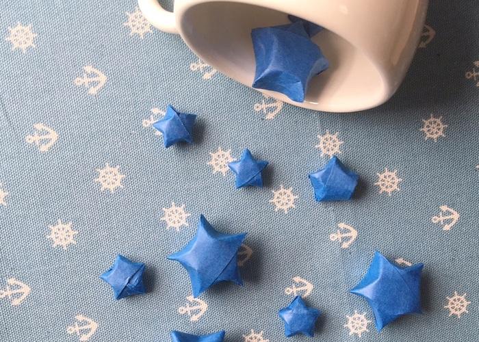 100均の紙テープを使って作れる♡スターシャワーの『お星さま』の作り方大解説!のトップ画像