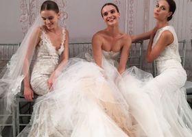 モニーク・ルイリエのウェディングドレスで素敵な花嫁さんになろう!モニーク・ルイリエの最新ドレスを2015年の春と秋コレクションの中から10選!ベールにあしらわれたビジューやシルクの糸で作られた刺繍が花嫁さんを釘付けにしちゃう!
