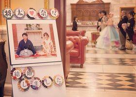 海外風の結婚式には、海外風小物がいいけど...日本風な和婚をする花嫁さんには、和テイストのウェルカムボードをおすすめします♡