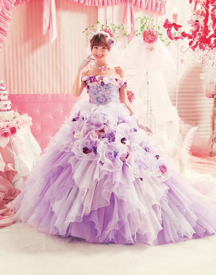 ラプンツェル?カラードレスはお花のドレスで決まり!!*パープル