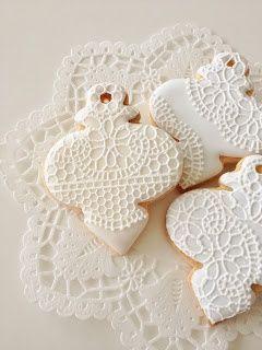 レース模様が可愛いクッキーをあつめました♡にて紹介している画像