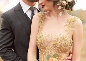 ゴージャスな雰囲気に、思わずうっとり…*「シャンパンゴールド」を取り入れたウェディングドレスを着て、クラシカルでエレガントな花嫁さんになりたい♡シャンパンゴールド×ウェディングドレスまとめ♡