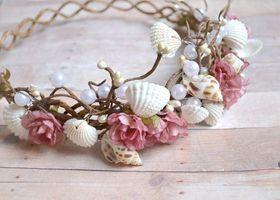 ビーチウェディングにぴったりなヘッドアクセサリー*お気に入りの貝殻を集めて作った『シェル冠』でアリエルみたいになりたいな♡