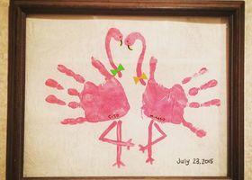 あったかさが伝わる♡手のひらで作る『手形アート』をウェルカムスペースに飾ると、ふたりの愛がゲストにまで伝わるような気がしませんか?