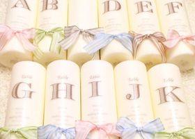 ひとつ199円のIKEAのキャンドルと、100均の転写シールで作れちゃう♡今、おしゃれプレ花嫁さんに大人気の持ち込みアイテムです♩