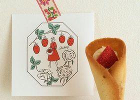ラングドシャに、クリームと苺がくるり♡5個入り772円で買える、ミニブーケ型のお菓子が大人気!横浜タカシマヤに急ぎましょう♩